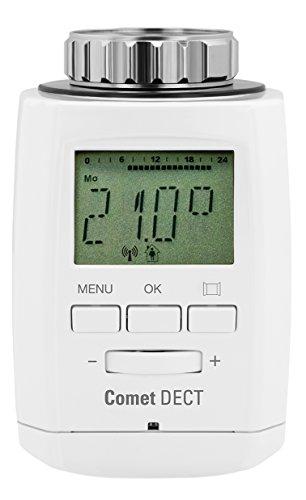 Preisvergleich Produktbild Eurotronic Comet DECT Heizkörperthermostat/Thermostat mit Internetzugang – kompatibel mit AVM FRITZ!Box/App gesteuertes Heizungsthermostat - Weiß