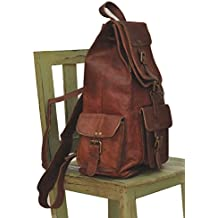 Original Leather College Bags /Backpack/Bag/ Stylish Latest Trendy For Men/Women/Boys/Girls/Men/ For School/Office/Casual/Daily Use/Gift/Coachig By Znt Bags- Brown 16""