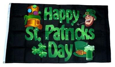 St. Patricks Day 90 x 150 cm (St Patricks Day Fahne)