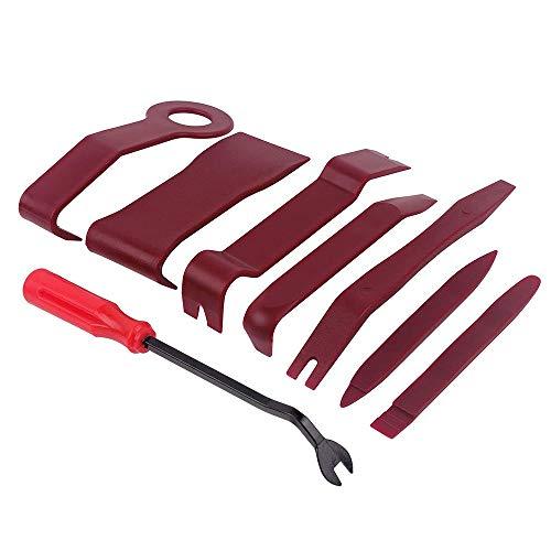 Auto Werkzeuge 8 stücke Auto Trim Removal Tool Auto Türverkleidung Removal Tool Kit mit Clip Zange Verschluss für Dash Mittelkonsole Installation und Entferner Starke Nylon pry zum Autos Automobil 8 Dash Kit