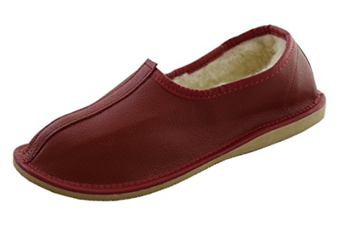 Natleat Slippers ,  Damen Unisex Erwachsene Herren Stiefel Rot