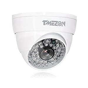 TMEZON Startseite CCTV Überwachungskamera Überwachungssystem 16CH CIF DVR mit 16x1000TVL Nachtsicht 130ft 48IR LEDs Metall Kamera, Unterstützung Fernzugriff von Smartphone ohne Festplatte