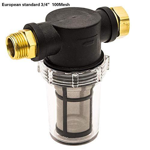 Jannyshop Wassereinlassfilter für Gartenschlauch Hochdruckreiniger Pumpeneinlass Vorfilter Schlauchanschluss Gartenzubehör 100 Maschensieb