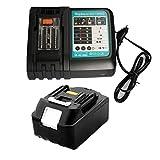 Ersatz makita ladegerät 18v mit akku 5,0Ah für Makita Akku-Baustellenradio 18Volt DMR104 DMR105 DMR106 DMR102 DMR109 DMR108 DMR107 Werkzeugakkus