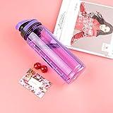 Youzhishui Umweltfreundliche Trinkwasser im Freien Wasserflaschen Plastikstroh Kinderflasche Wasserkocher Sportflasche,lila