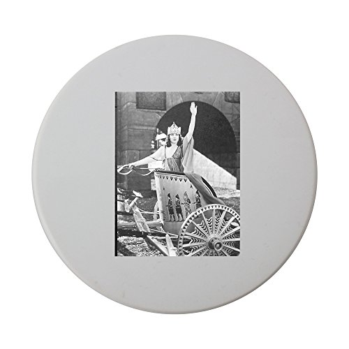 ceramic-round-coaster-with-woman-in-chariot