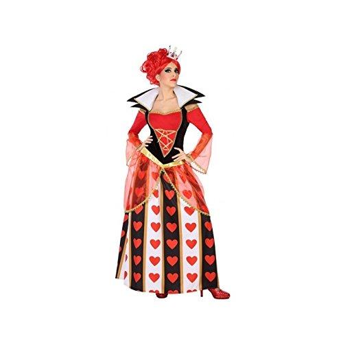 Atosa-54483 Atosa-54483-Costume-Déguisement Dame De Couer Adulte, Femme, 54483, Rouge, XS-S