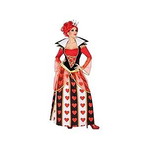 Atosa-54483 Disfraz Reina Corazones, Color Rojo, XS-S (54483)