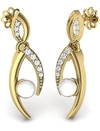 Perrian 18KT Diamond Drop Earrings for Women