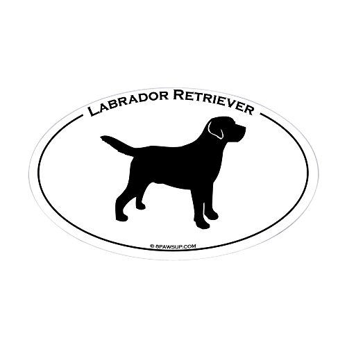 CafePress–Labrador Oval Text Aufkleber (Oval)–oval Bumper Sticker KFZ Aufkleber, weiß, Large - 4.5x7.5