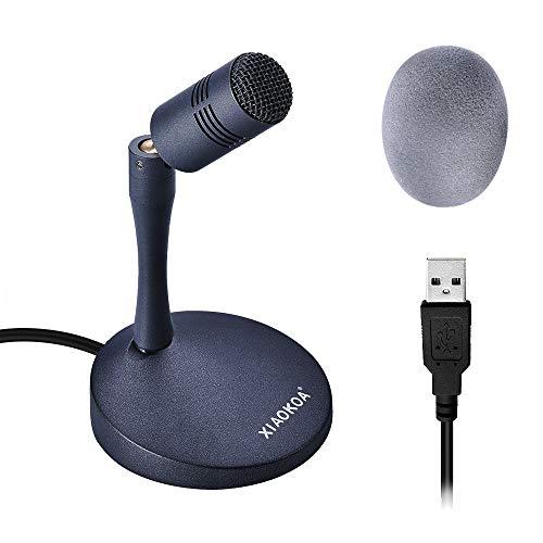 XIAOKOA Microfono USB per PC,Plug And Play Vocale Desktop Microfono,Compatibili Windows/Mac,per Chat Online/Giochi/Podcast/Registrazione/Conferenza/Trasmissione Live - Confronta prezzi