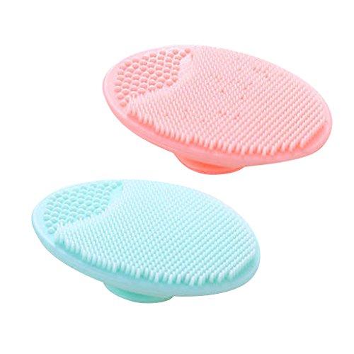D DOLITY 2 stk. Silikon Gesichtsreinigungsbürste Reinigungsbürste Massagebürste für Alle...
