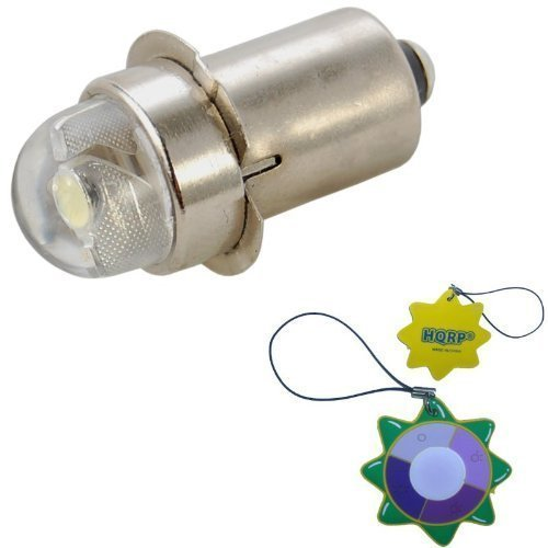 Preisvergleich Produktbild HQRP LED Ersatzbirne 45 Lumen 0.5W 1V - 9V für Magnum Star II LMXA301 Xenon-Lampe, 3 C / D Zellen Mag-Lite Taschenlampe