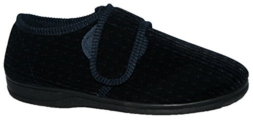 diabetic-orthopaedic-mens-easy-close-wide-fitting-touch-close-bar-strap-shoe-slipper-11-navy