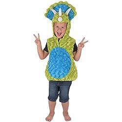 Disfraz dinosaurio verde y azul niño 3-4 años (98-104 cm)
