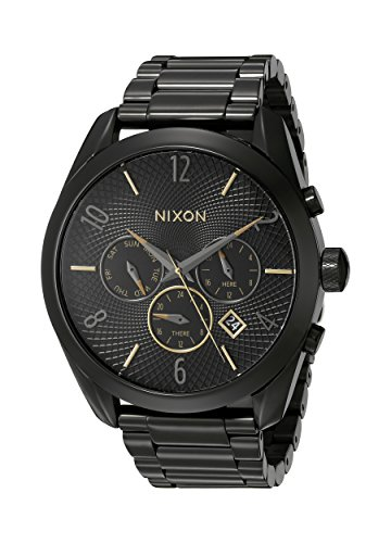 Nixon Women's A3661616 Bullet Chrono Analog Display Analog Quartz Black Watch
