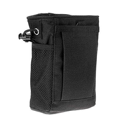 Tactical Gear Bundles Molle Kordelzug Magazin Dump Pouch Military Verstellbarer Gürtel Utility Hip Tasche Outdoor Pouch (Schwarz)