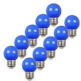 Cubierta en espiral E27, 2W, luz LED Edison, luz azul de golf, fiesta de fiesta para...