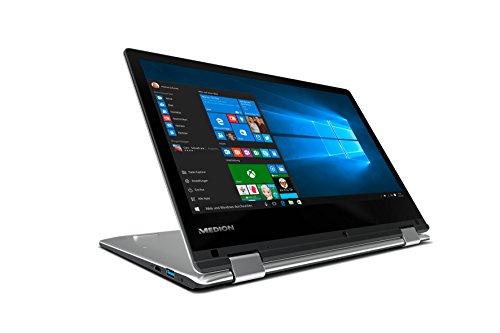 Medion E2215T MD60252 Akoya 29,5 cm (11,6 Zoll) Convertible Touch-Notebook (Intel Atom, 2 GB RAM, 64 GB Flash-Speicher, Intel HD-Grafik, Win 10 Home) schwarz -