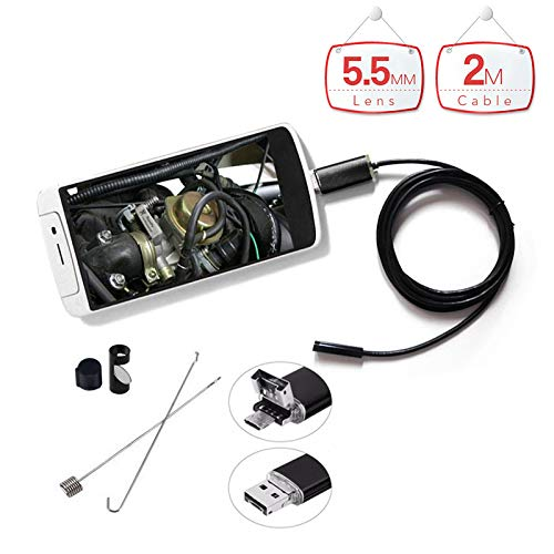 Surveillance Camera WiFi An99 5 5Mm Lens 2In1 Endoscope 2M Waterproof Micro  USB Android Endoscope Camera 6Led Inspection Borescope for Smart Phones Pc