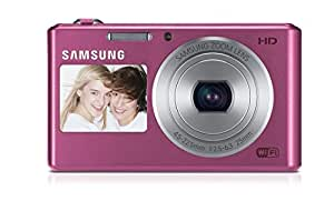 Samsung DV150F 16.2MP Smart WiFi Digital Camera with 5x Optical Zoom and 2.7-inch Front and 1.5-inch Rear Dual LCD Screen (Pink), 4GB Card, Camera Case