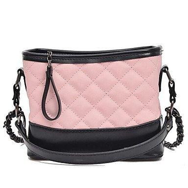 SUNNY KEY-Borsa a tracolla @ Donna Borsa a tracolla Montone Per tutte le stagioni Casual Cerniera Bianco Nero Rosa , white blushing pink