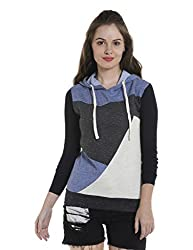 Campus Sutra Womens Plain Sweatshirt (AZW17_HST3C_W_PLN_CHBLDNCR_AZ_M)