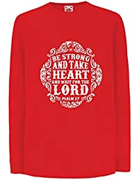 724b852d5 lepni.me Niños Niñas Camiseta Esperar Al Señor - Libros Sobre Los Salmos -