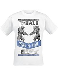 T-shirt Halo Fight bataille poster Jameson Locke versus Master Chief coton blanc
