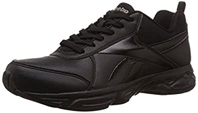 Reebok Men's School Sports Lp Black Leather Running Shoes - 11 UK