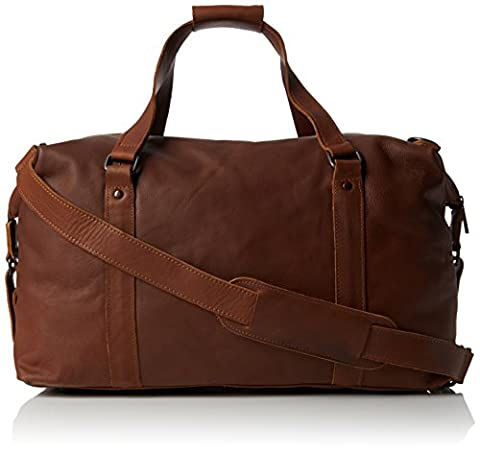 Lyle & Scott Unisex Adults' Leather Holdall Top-Handle Bag Brown (Tan)