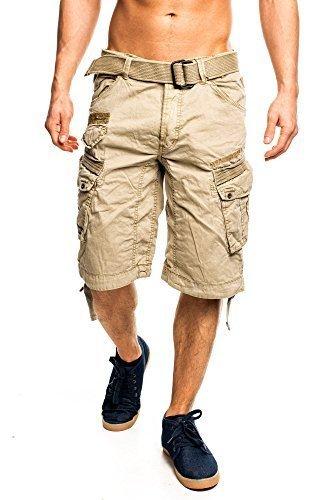 1L3 Geographical Norway People Herren Bermuda Shorts Kurze Hose Beige XXXL