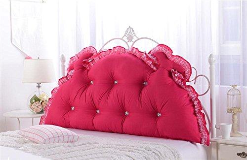 GCR® Oreiller Simple perméabilité moderne princesse coréenne de jardin de lit de fibres de polyester lavable à l'humidité grande pièce arrière , red , 120cm (detachable)