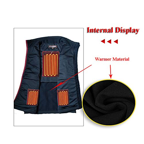 41VKmYlS UL. SS500  - DZX Electric Warm Clothes/Heating Vest,USB Cable (unisex/Black)- For Outdoor Travel Camping Bike Skiing,XS