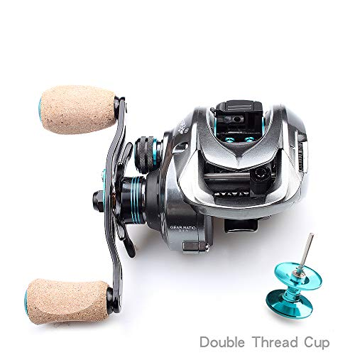1 Left-hand Thread (HULEI Angelrolle 11 + 1 Bearing.Brake Force 8 Kg Übersetzungsverhältnis 8.1: 1 Casting Reel Double Thread Cup Angelrolle Left Hand)
