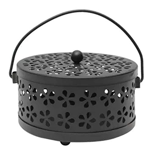 Yaoaoden Moskito-Mozzie-Spulenhalter aus verzinktem Stahl, brennerabweisend Home Art Decor -