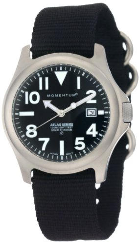Momentum - 1M-SP00B8B - Montre Homme - Quartz Analogique - Bracelet nylon noir