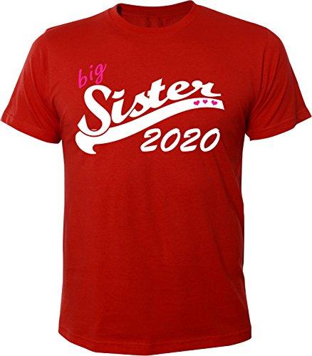 Mister Merchandise Herren Men T-Shirt Big Sister 2020 Tee Shirt bedruckt Rot