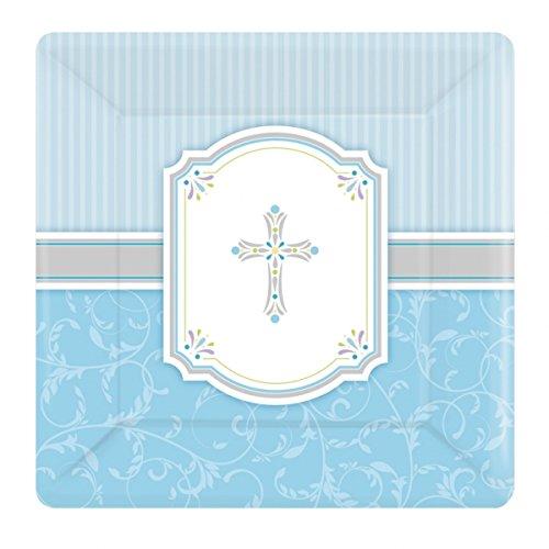 nion blau quadratisch Pappteller (8Stück) ()