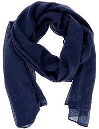 c747679903a5 moonbow Foulard Bleu marine Paillette - Foulard Femme - Echarpe Femme - Foulard  Paillette - Etole