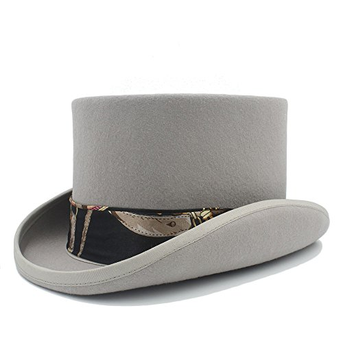 Sombrero de moda Lei ZE Jun UK- Sombrero de Copa Steampunk de 4 Colores con Sombrero Negro Sombrero de Sombrerero Loco de Tela para Mujeres (Color : 3, tamaño : 57CM)