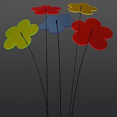 """SUNPLAY """"Sonnenfänger Blumen"""" im FARBMIX, 5 Stück zu je 20 cm Durchmesser im Set + 70 cm Schwingstäbe von SUNPLAY auf Du und dein Garten"""