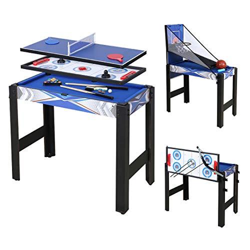 homelikesport Table Multi Jeux 5 en 1 Table de Jeux, pour Hockey, Billard, Basket, Tennis de Table, Arc, 91.5 * 48 * 76cm