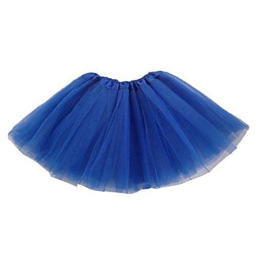 SODIAL(R) Kinder Maedchen Modern Ballett Verkleiden Fee Tutu Rock Dunkel Blau (Dunkle Fee Flügel Kostüme)