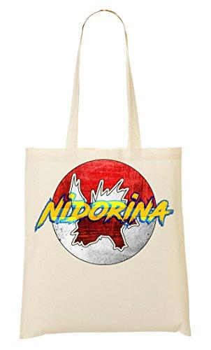 Nidorina | Inspired By Pokemon Go | Catch Them | Fun | Adventure | Japanese | | Game | Simple | Shape Tragetasche Einkaufstasche Pokemon Nidorina