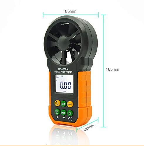 Medidor De Velocidad del Viento Anemómetro Digital De Flujo De Aire Tester Medidor De Volumen Temperatura...