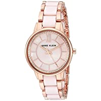 Anne Klein Womens Quartz Watch, Analog Display and Ceramic Strap AK3344LPRG