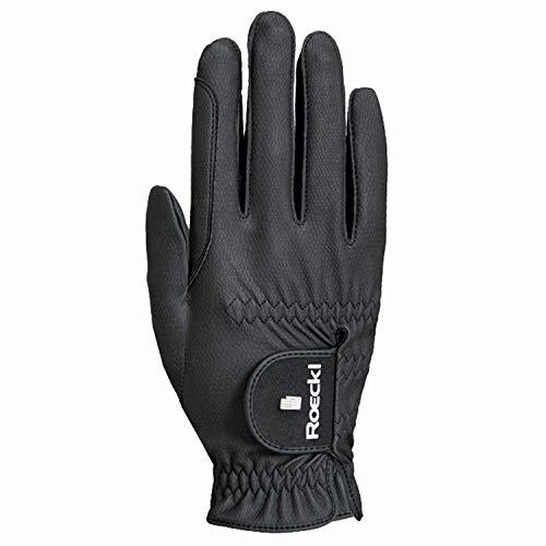 cfa9fec6017e83 Roeckl Roeck Grip Pro Handschuh, Unisex, Reithandschuhe, Schwarz, Größe 6