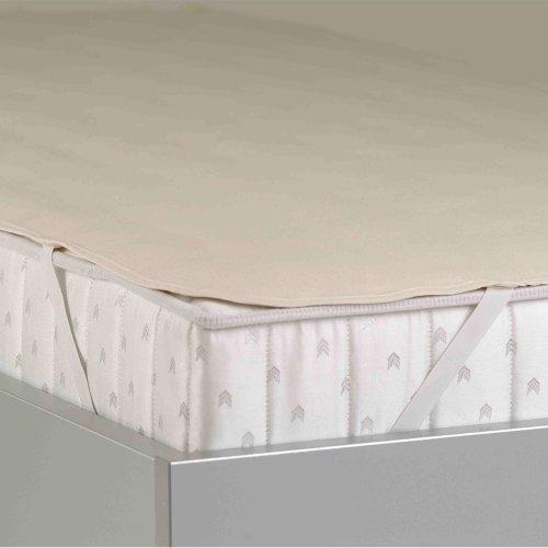TAURO 24727 Matratzenschoner aus Baumwolle | Molton Topper für Matratzen | Matratzenauflage waschbar und atmungsaktiv | 160 x 200 cm
