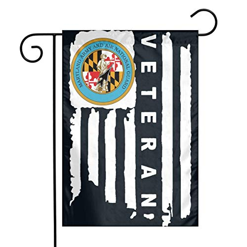 Blaue National Guard (0 Maryland National Guard American Flag Garden Flag House Banner for Party Yard Home Outdoor Decor)